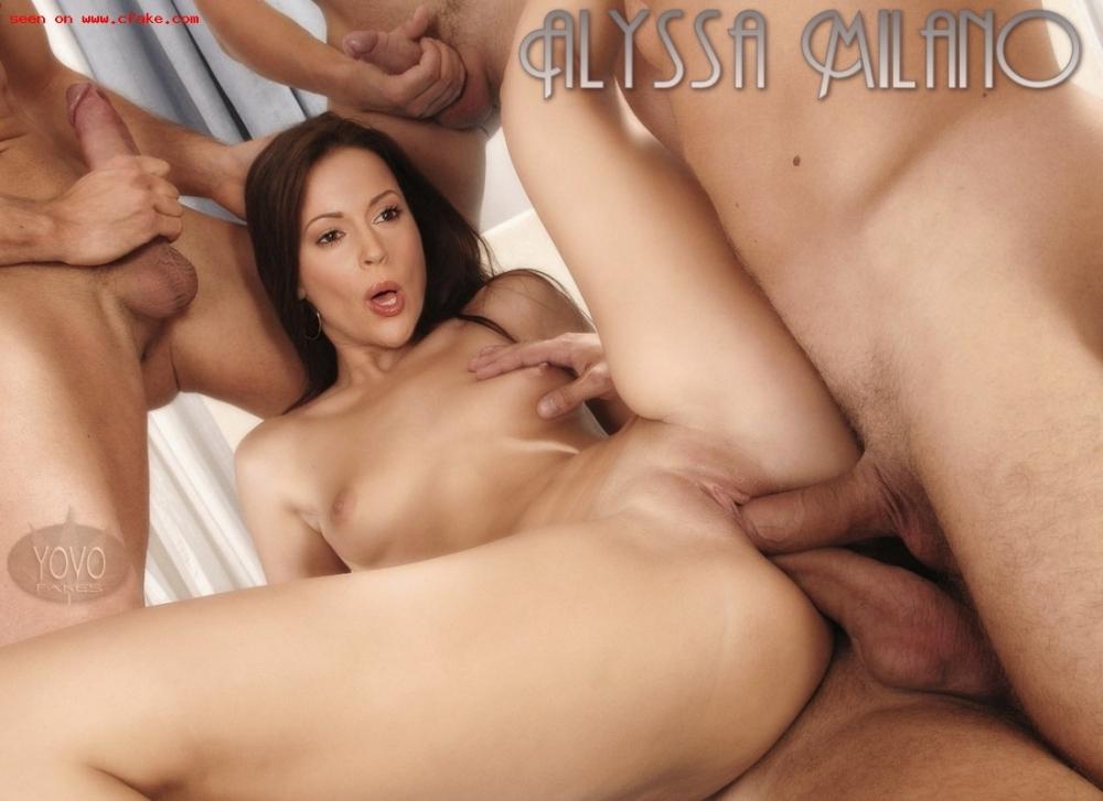 Alyssa Milano Double Vaginal Sex images