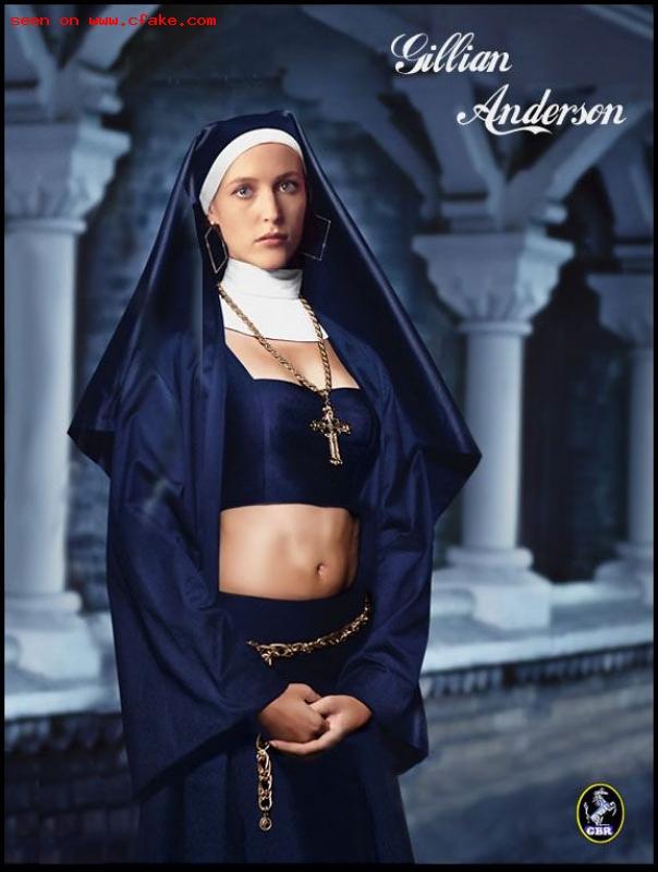 Gillian Anderson Nun Fake XXX images