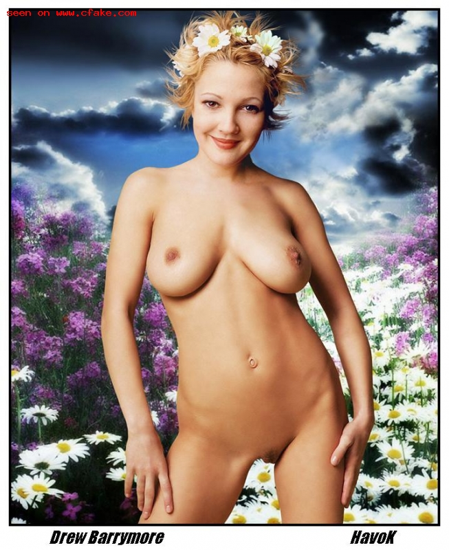 Free shipping drew barrymore print poster nude playboy print
