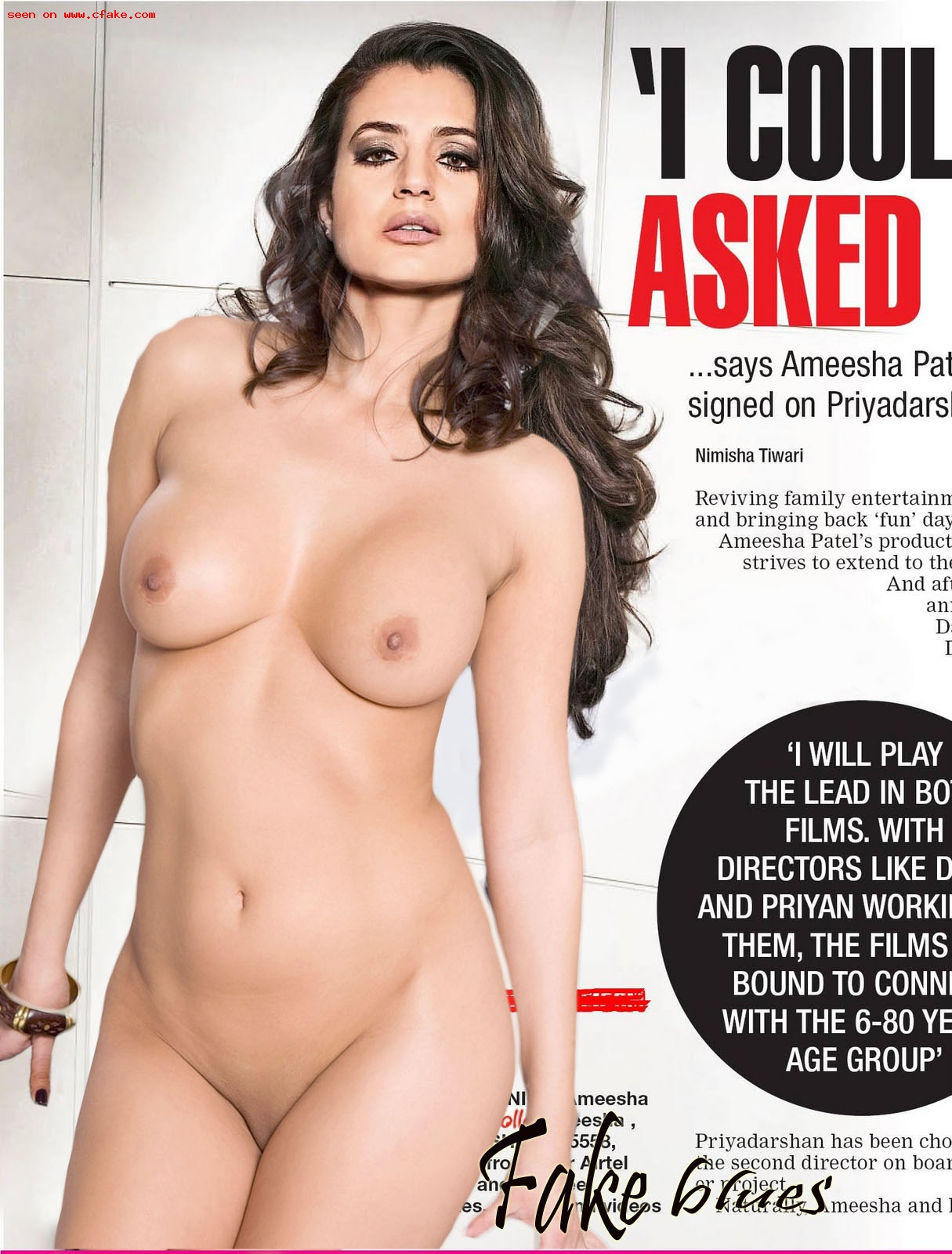 Sexy Old Actress Amisha Patel Full Nude Pose Naked Body Without Dress